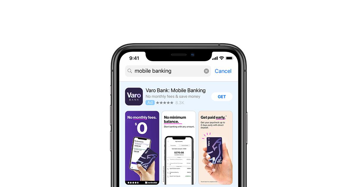 Mobile banking app.
