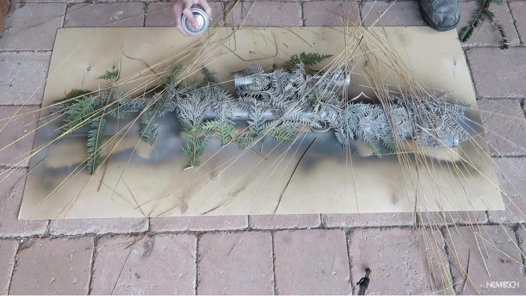 custom spray paint job w/ foliage