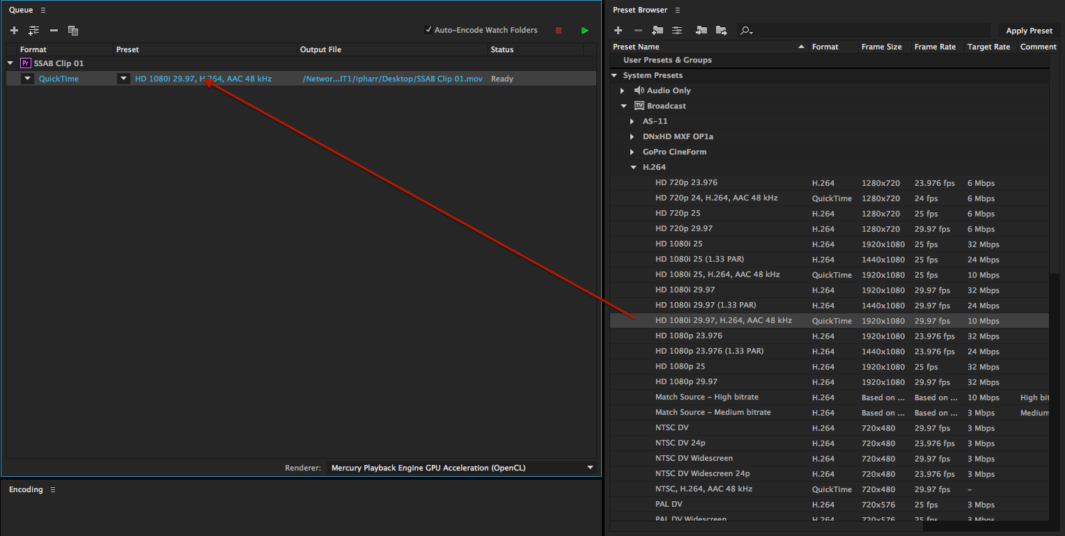Exporting HD Video with Adobe Media Encoder | Denver Open Media