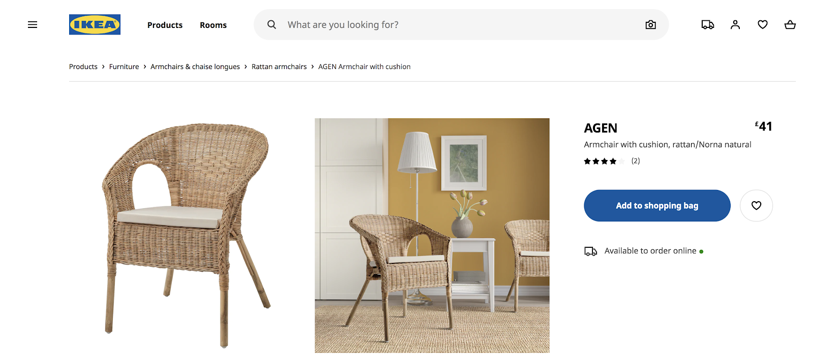 Ikea-product-page