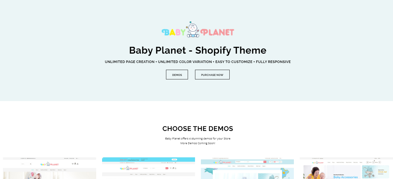 Baby Planet - Shoes shopify theme