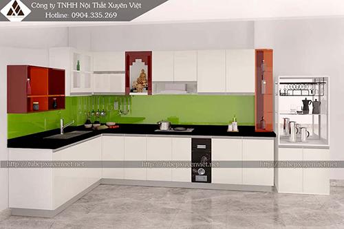 Mẫu tủ bếp đẹp bằng nhựa hình 3