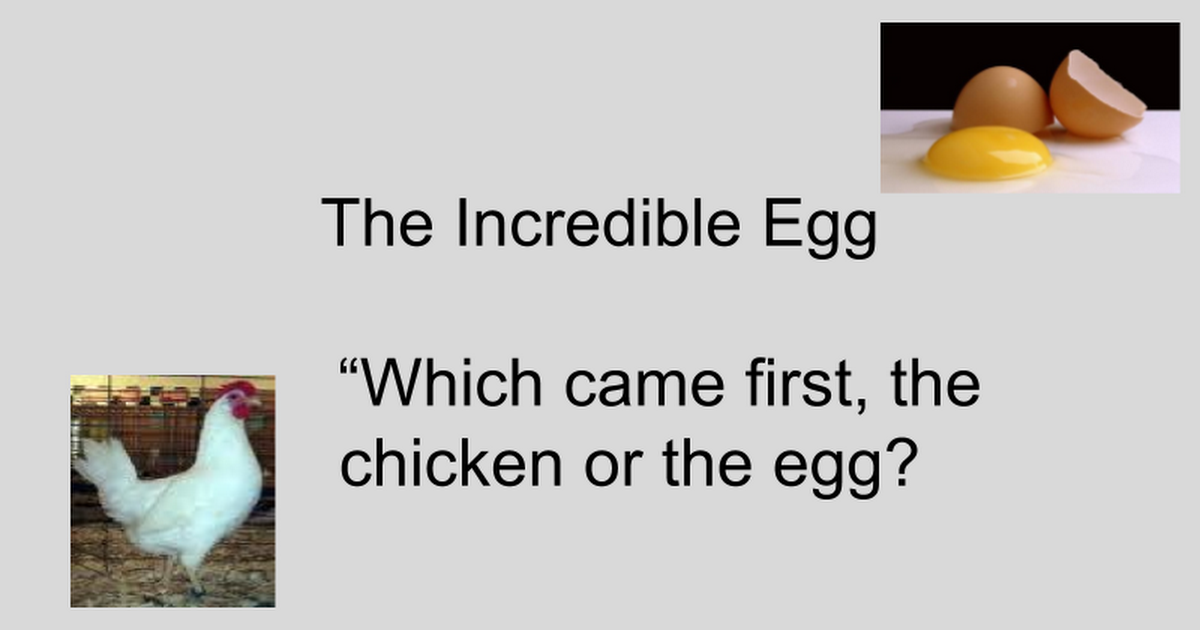 which came first essay