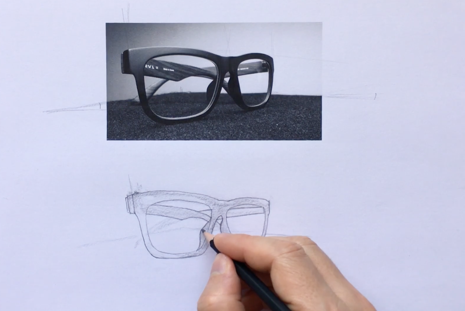 glasses sketch drawing ideas for beginners