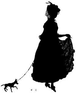 К.А.Сомов. Дама с собачкой. Заставка из журнала «Золотое руно». 1906 г.