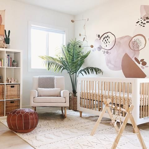 Rocking Chair with Trendy Pouf