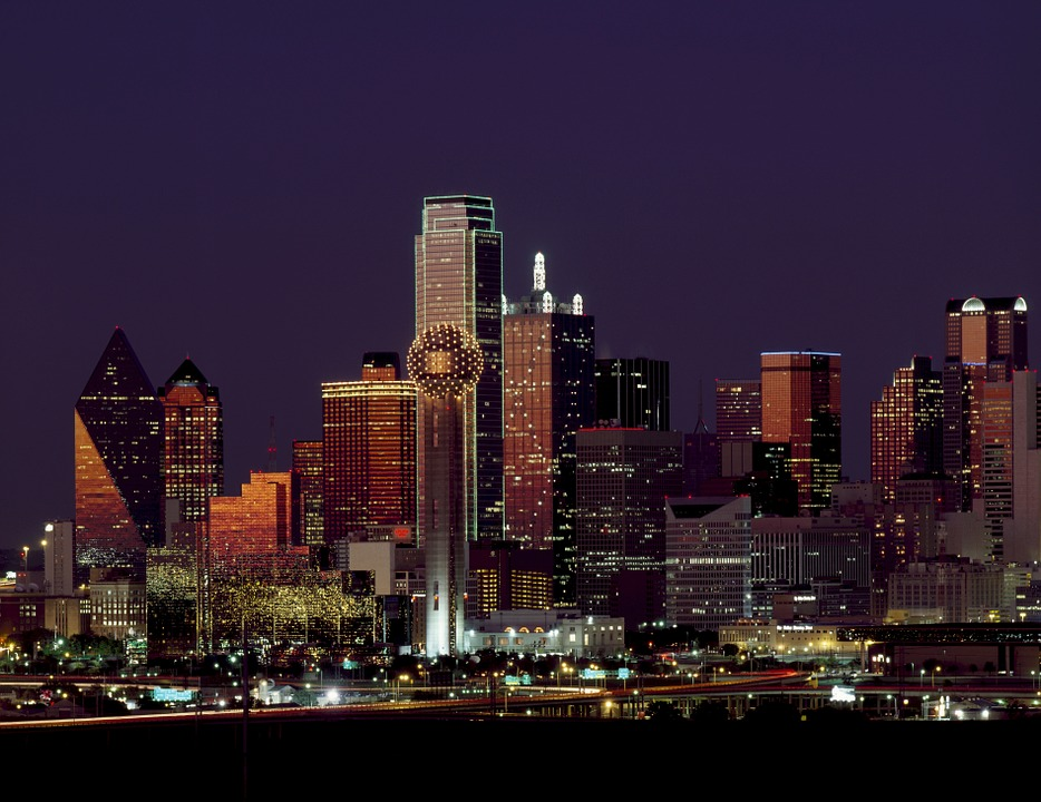 Dallas Texas Skyline Dusk - Marquette Turner Luxury Homes