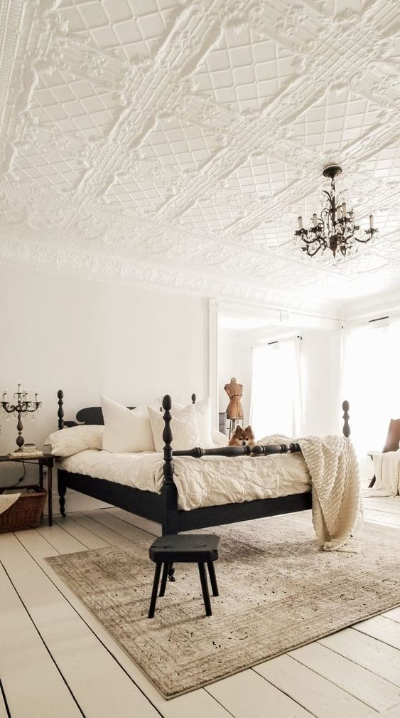 Add A Mannequin in Vintage White Bedroom