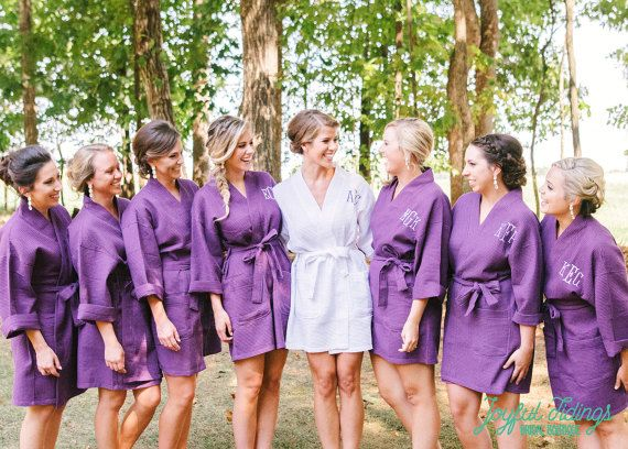 Waffle Robes for Bridesmaids