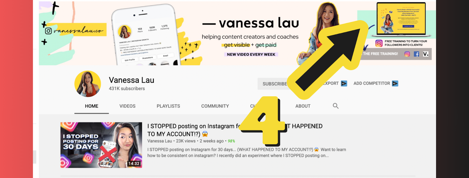 Vanessa's Youtube channel example 5