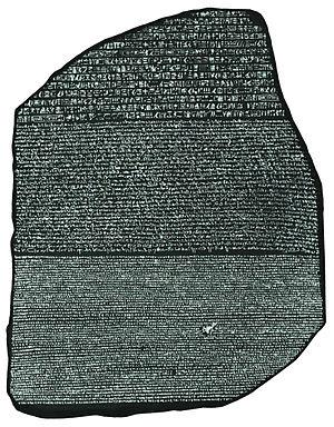 Resultado de imagen de piedra rosetta