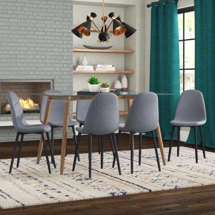cavallaro 7 piece space saving dining set