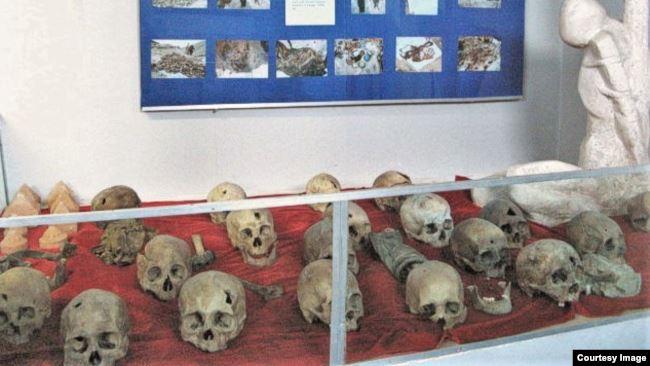 Экспозиция в улан-баторском Музее жертв политических репрессий