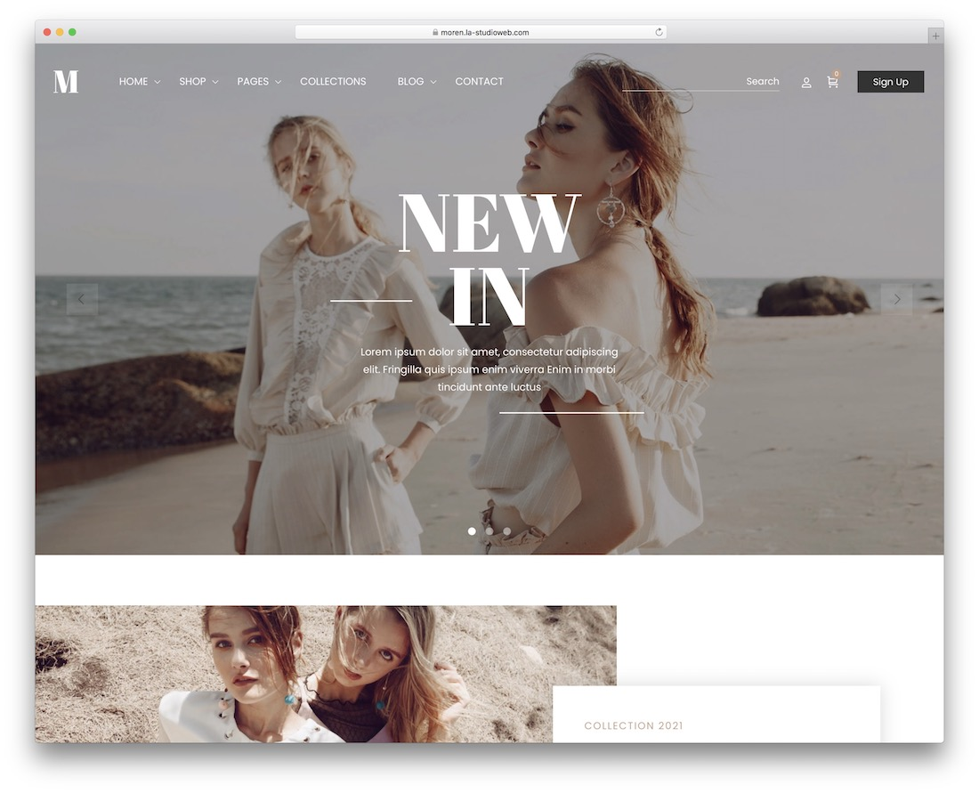 Moren - fashion ecommerce wordpress themes