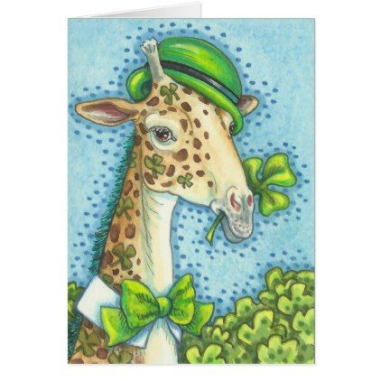 Image result for picture of st patrick day giraffe