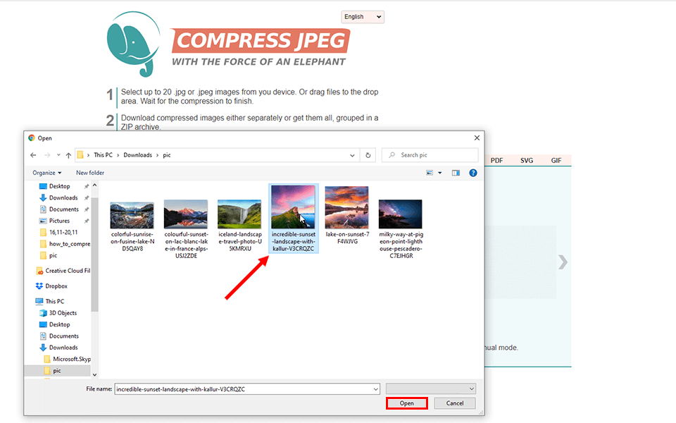 C:\Users\User\Desktop\how to compress a photo\compressjpeg\Screenshot_2.png