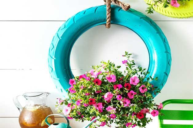 10 Fabulous Tyre Planters Ideas To DIY 6