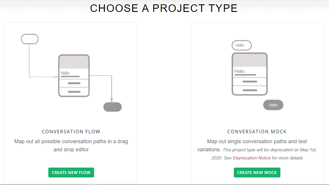 Choose your project type