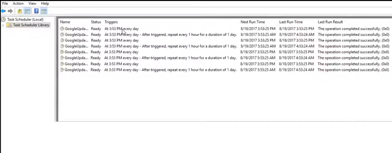 task scheduler triggers tab