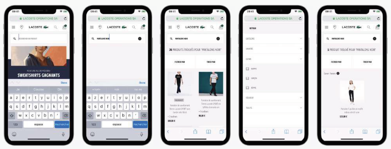 example of search case study from lacoste.