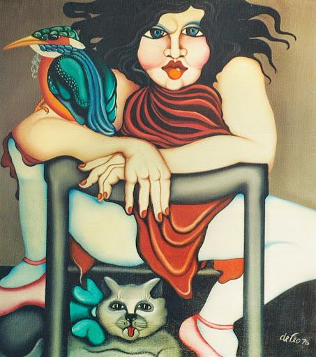 Donna con gatto - Fiammetta De Feo