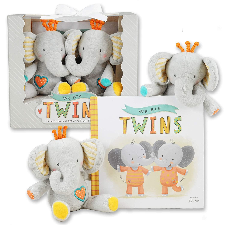 Twin Elephant Rattle Gift Set