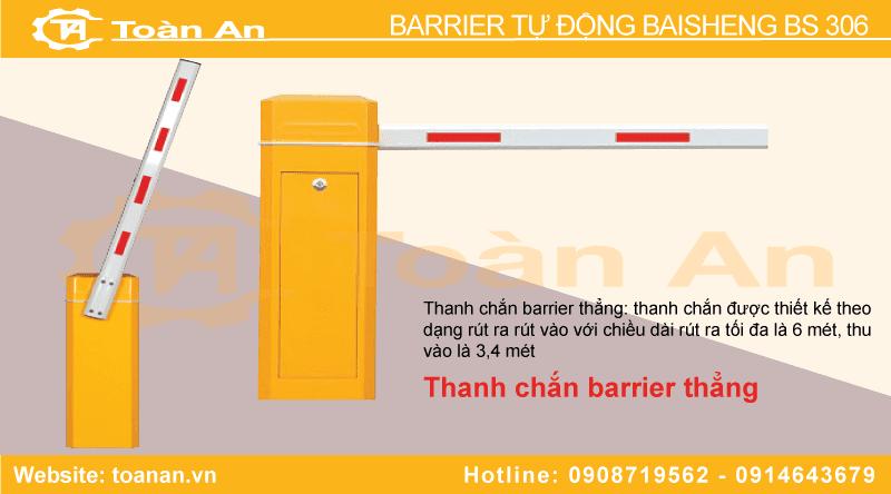 Thanh chắn thẳng của barrier tự động bs 306.