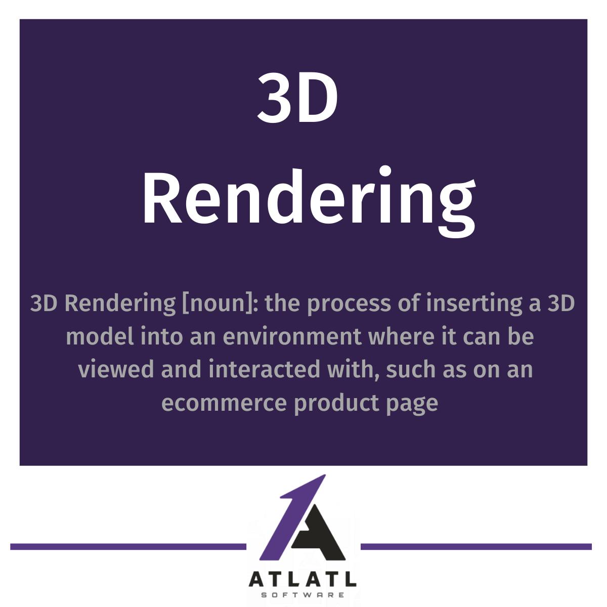 What is 3D rendering?