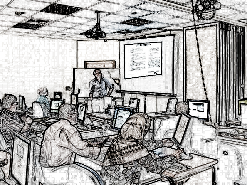 Sketch of IVSL Training in Amman Jordan, Photo Credit: Sarah Polaski, Modified withSketch Maestro