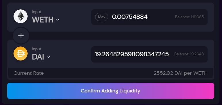 Provide liquidity on Polygon