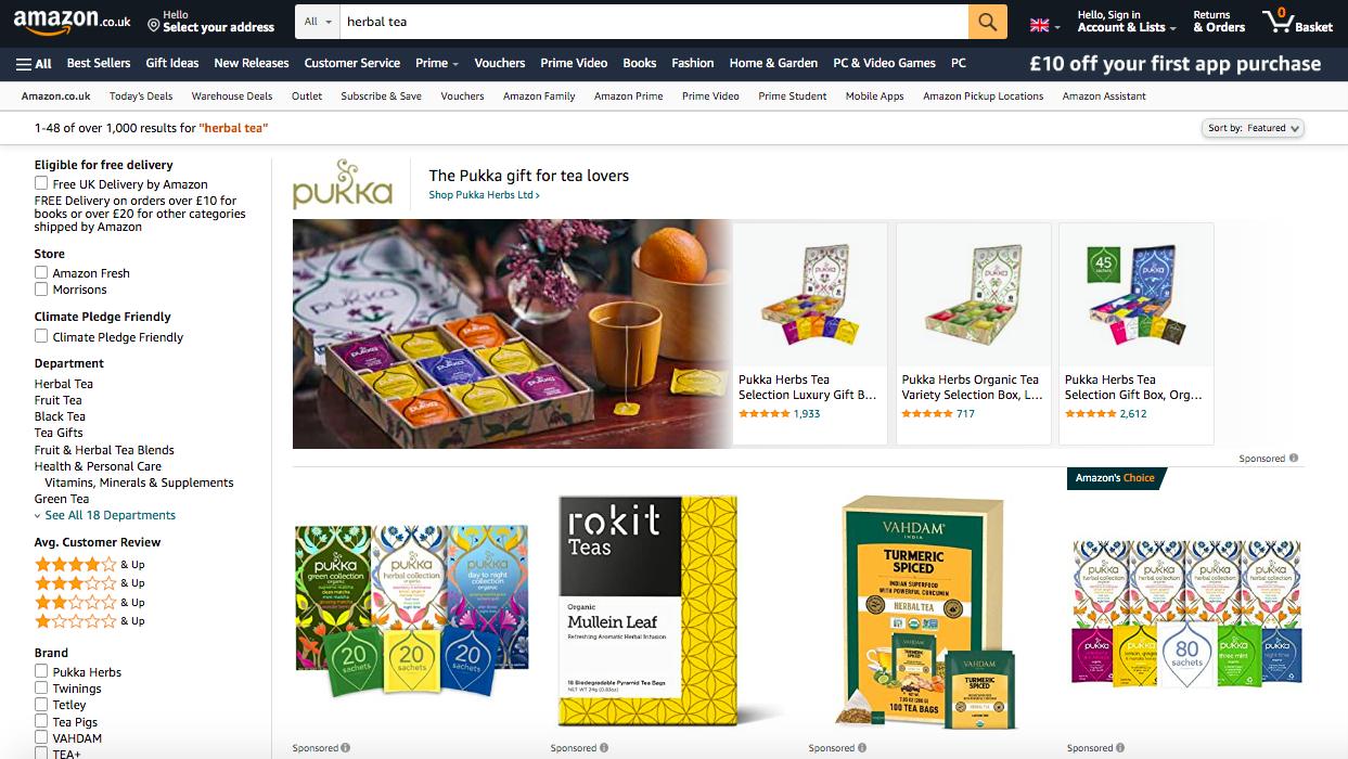 Amazon + Pukka
