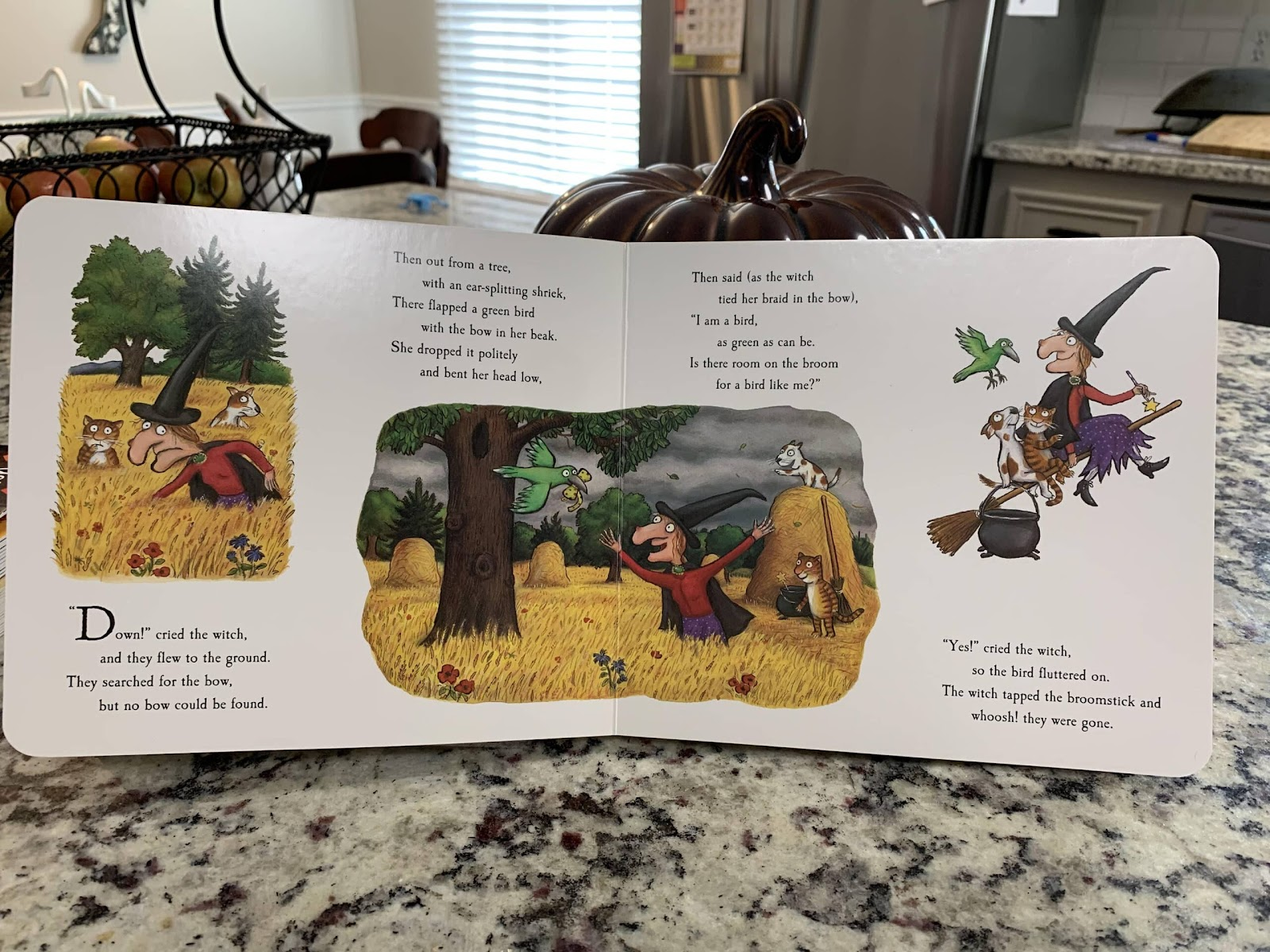 the best children's picture books for fall room on the broom