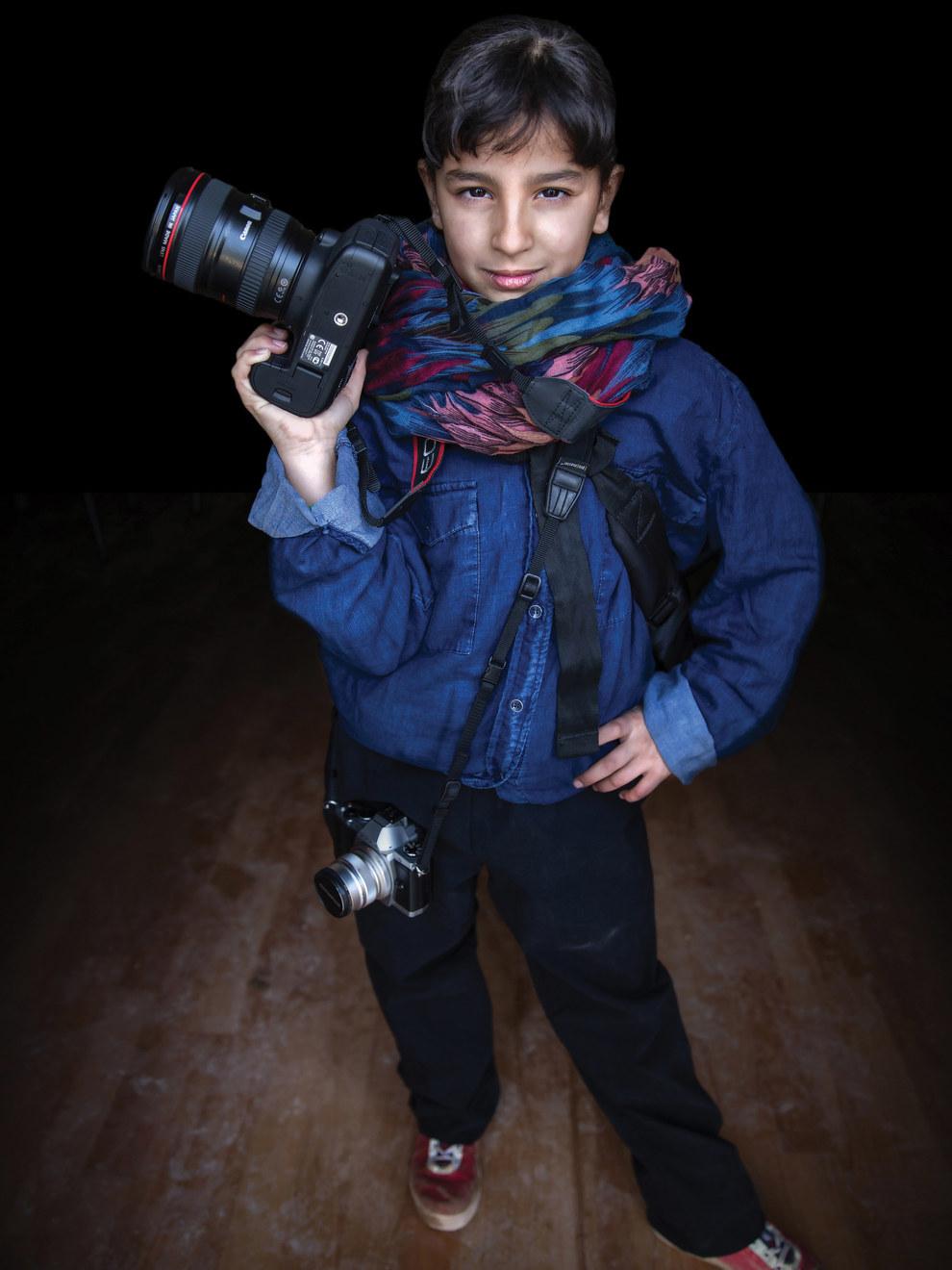 Muntaha, 12, future photographer