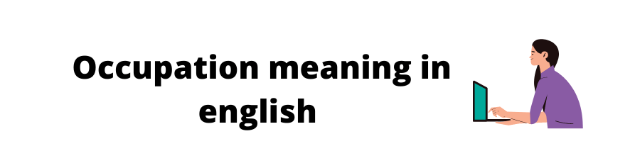 Occupation meaning in english