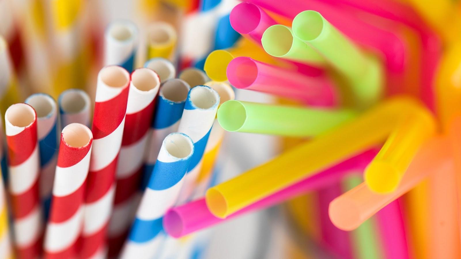 Plastic Straw Waste