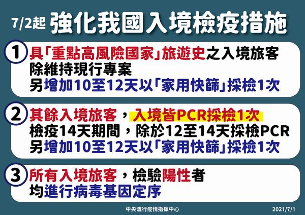 2021-07-02 強化台灣入境檢疫措施