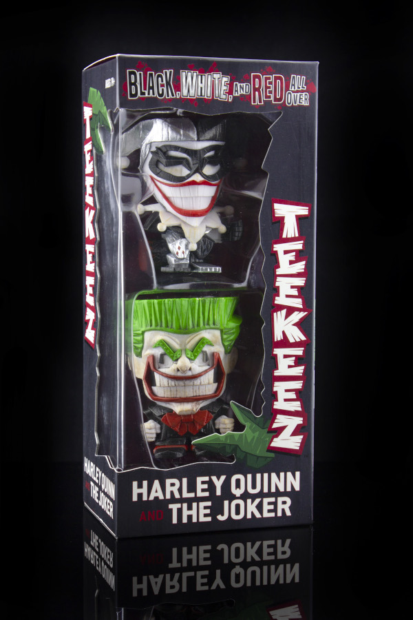 Black, White, and Red All Over Harley Quinn and The Joker DC Teekeez