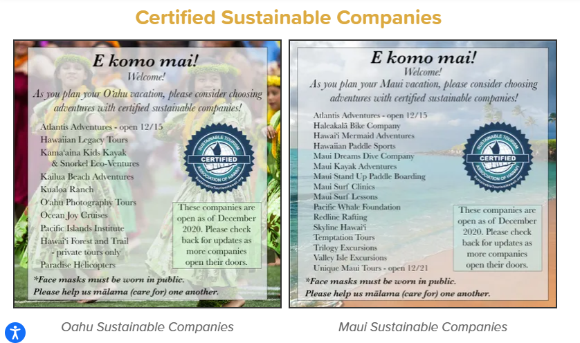 Hawaii, companies reopening for tourism