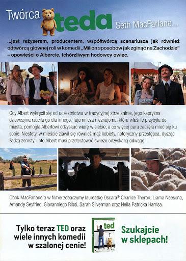 Tył ulotki filmu 'Milion Sposobów Jak Zginąć Na Zachodzie'