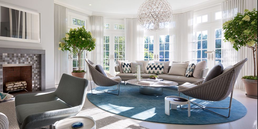6 Cảm hứng pha trộn màu xanh, thể hiện sự yên tĩnh trong nội thất