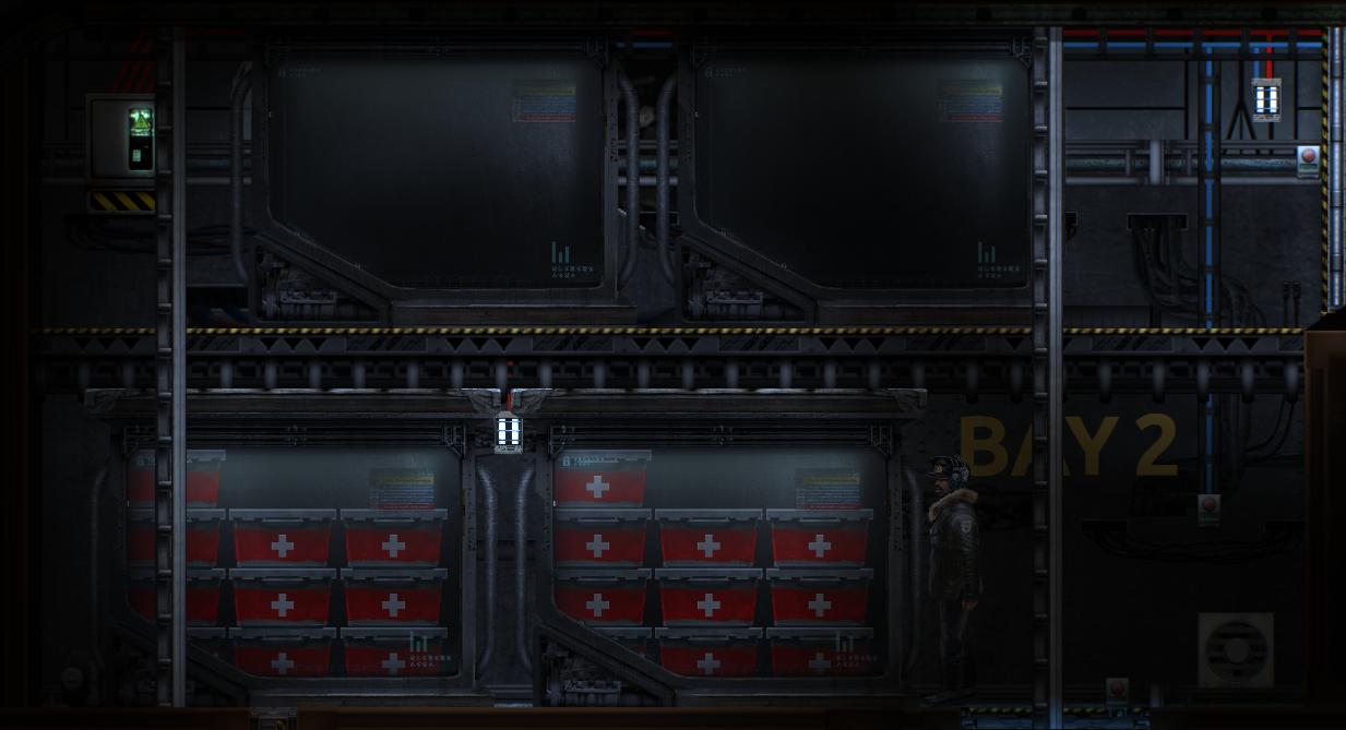 Unit Load Devices on board the Berilia submarine in Barotrauma