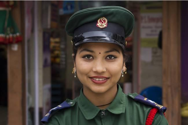 The most beautiful police girls from Nepal