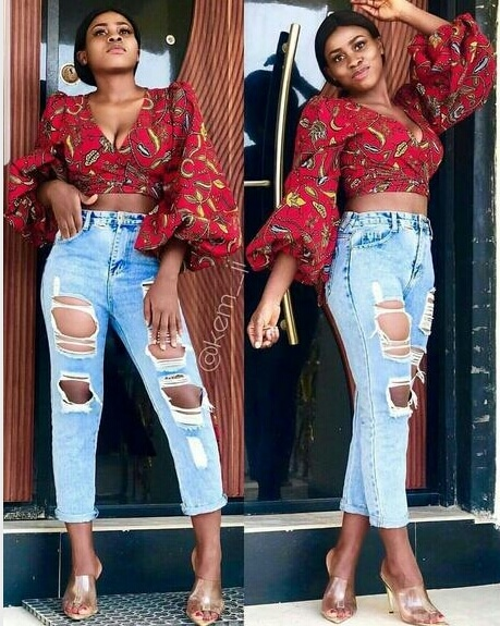 African crop top style