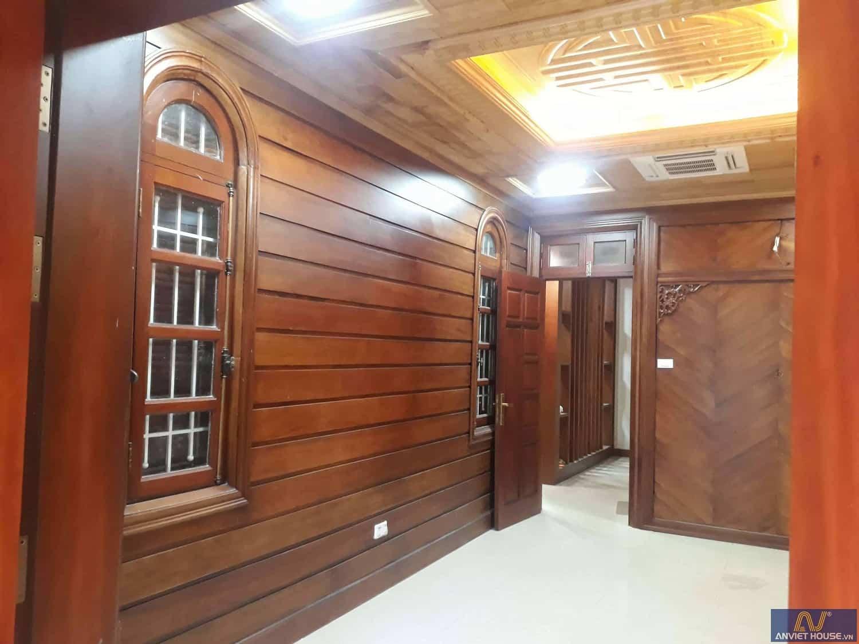 thi công nội thất phòng thờ gỗ gõ đỏ và gỗ pơ mu