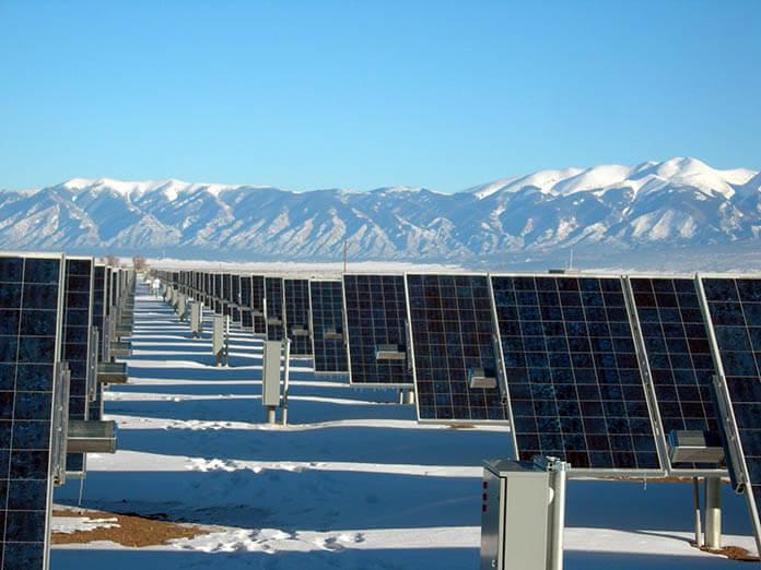 солнечные панели в Антарктике