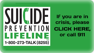 Suicide Prevention Lifeline, 1-800-273-TALK (8255); If you are in crisis, please click here, or call 911
