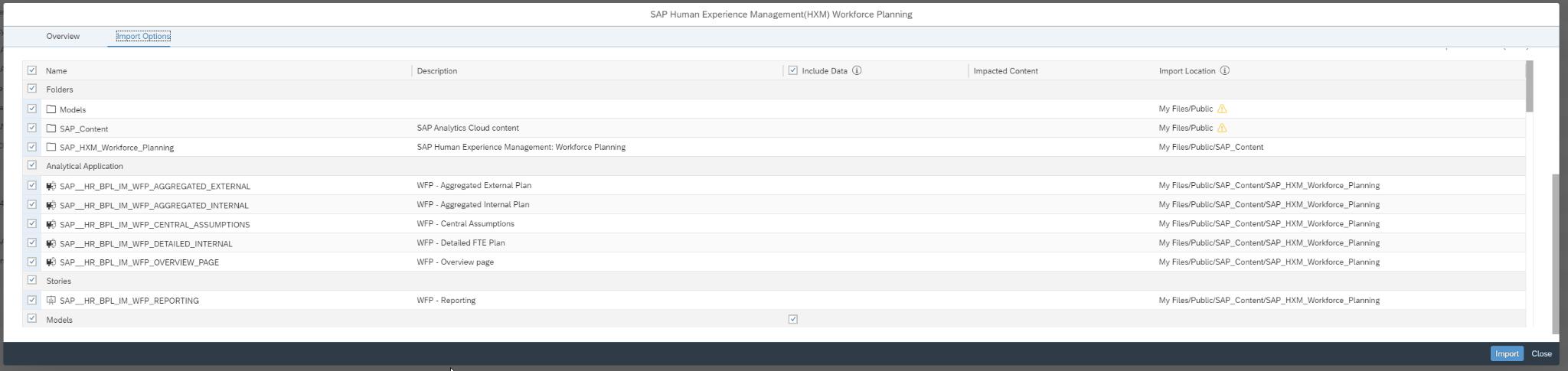 screenshot planning function sac