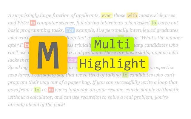 Multi-highlight chrome extension