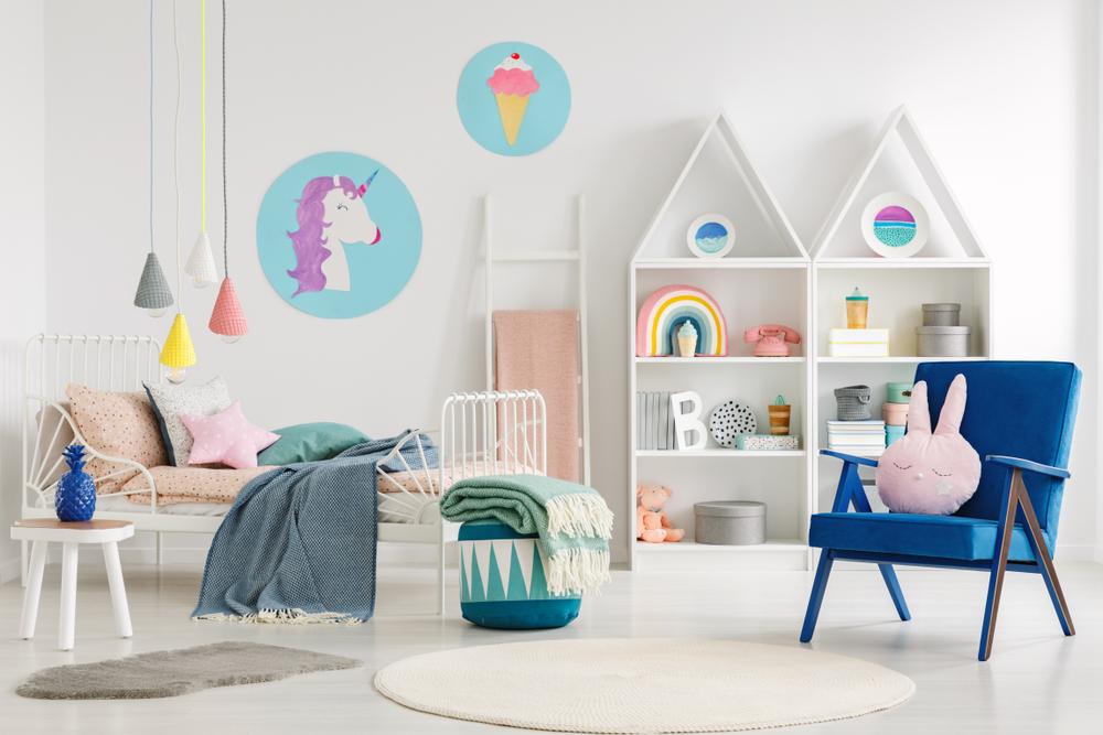 imagem de um dos quartos infantis decorados