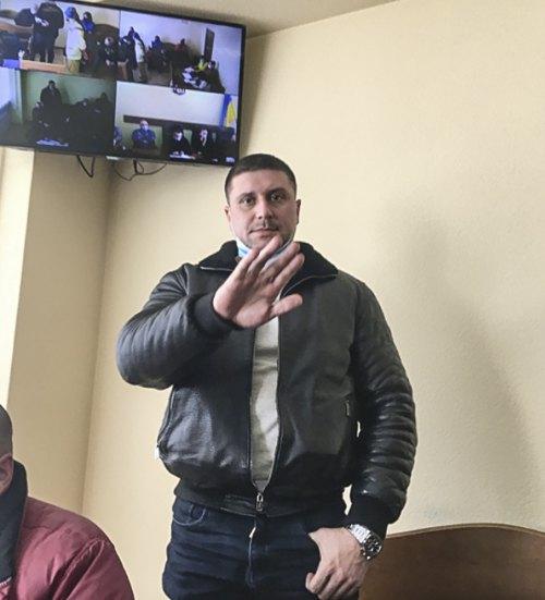 Обвинувачений Олег Гебан у засіданні 10.03.2021
